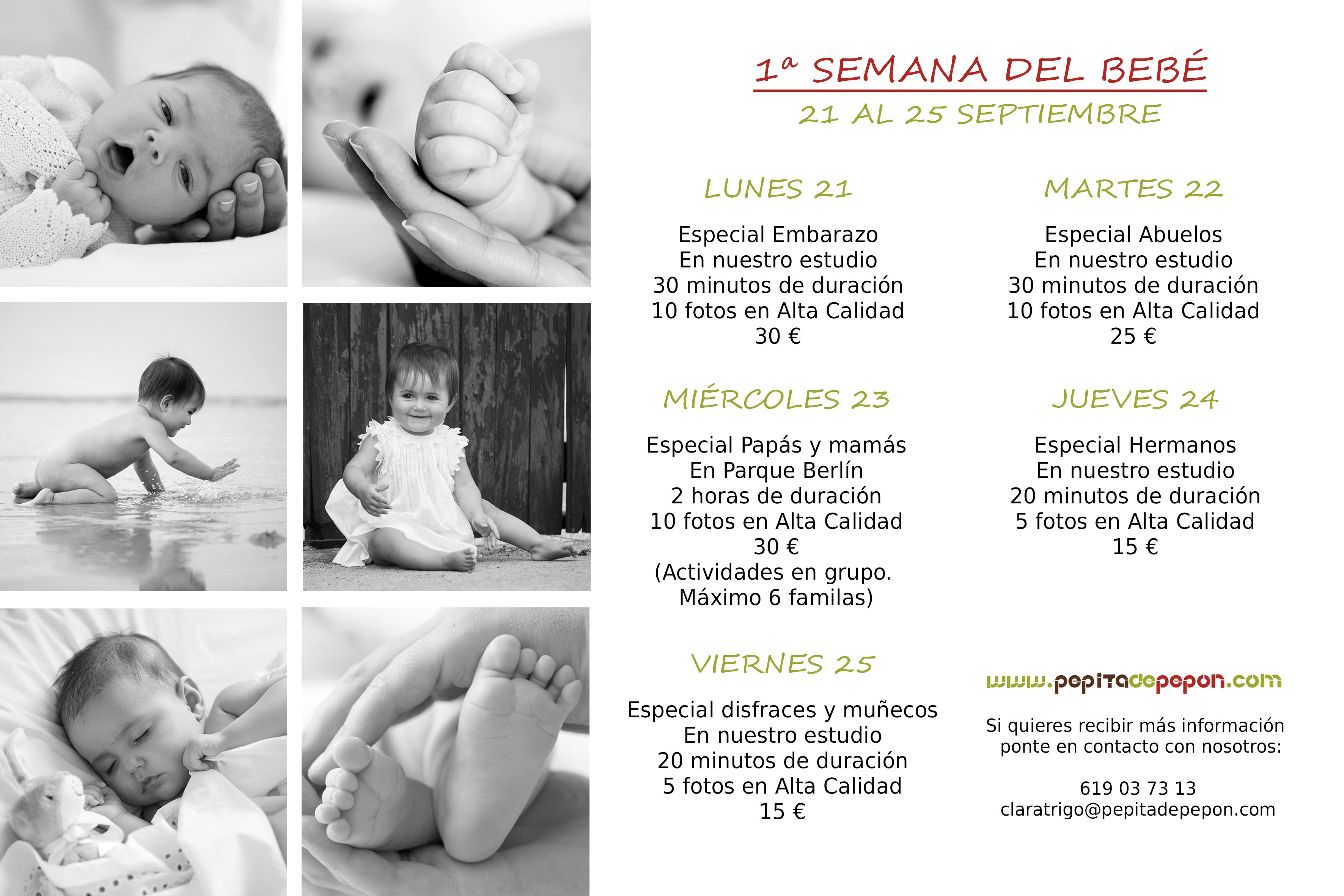 ¡Celebramos la primera semana del bebé!
